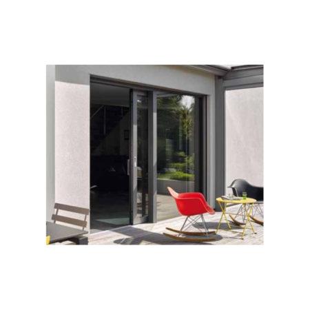 Porte Fenêtre Coulissante mixte Bois et Aluminium sur mesure DUOBA BIEBER