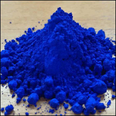 Pigments en poudre teintes B (ultramarines et quelques terres)