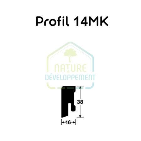Plinthe - Profile 14 MK 16/38 mm placage bois MEISTER