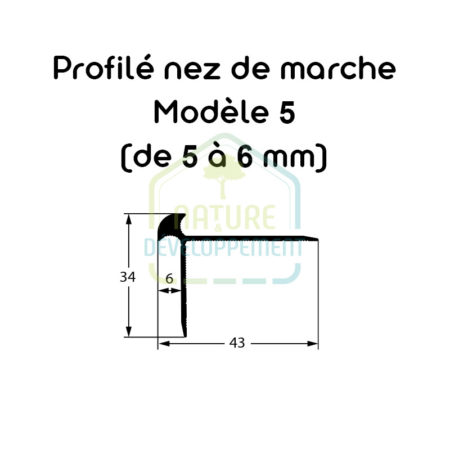 Barre de finition nez de marche Modèle 5 (de 5 à 6 mm) MEISTER
