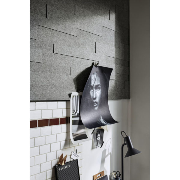Lambris en feutre style SP 800 Feutre gris basalte 4502 ambiance
