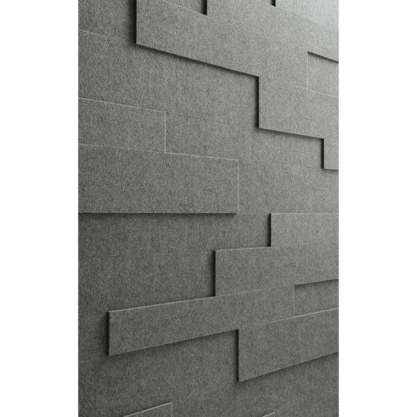 Lambris en feutre style SP 800 Feutre gris basalte 4502 détail