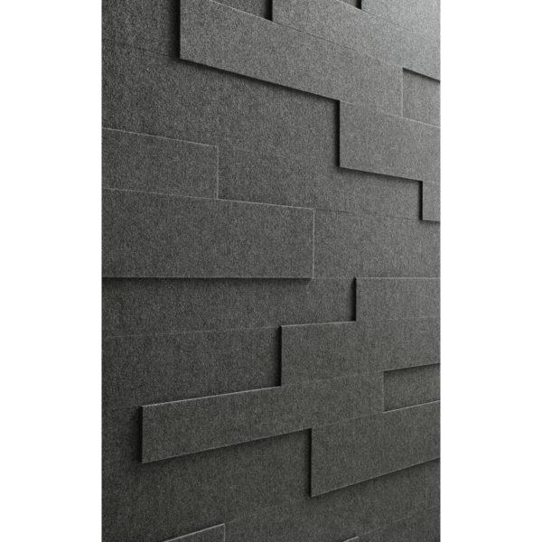 Lambris en feutre style SP 800 Feutre gris quartz 4503 détail