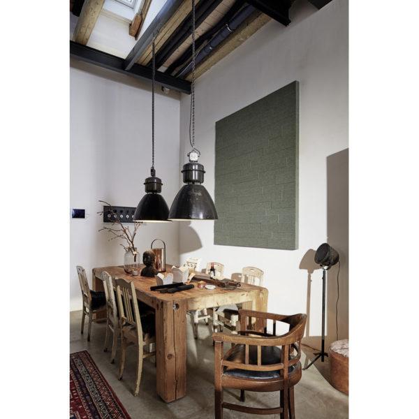 Lambris en feutre style SP 800 Feutre olive 4511 ambiance