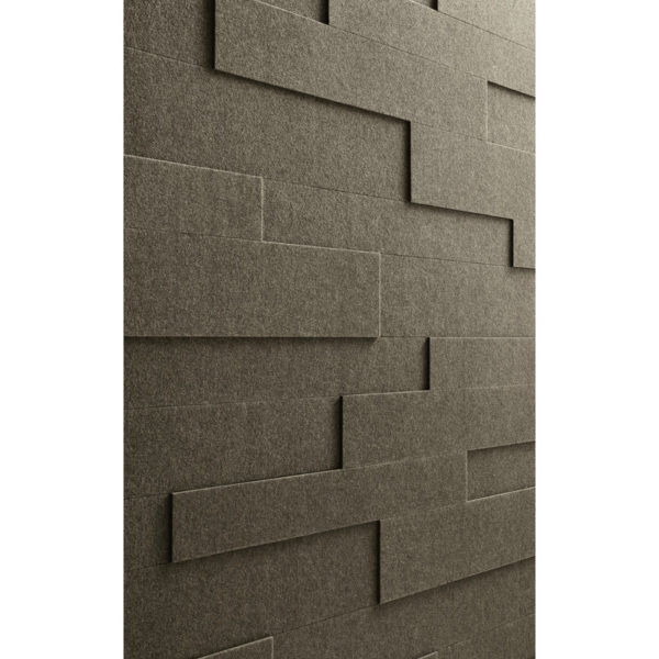 Lambris en feutre style SP 800 Feutre brun terra 4515 détail