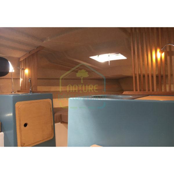 Enduit isolant en liège projeté SOLIEGE intérieur bateau