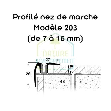 Barre de finition pour nez de marche Modèle 203 MEISTER