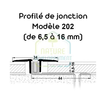 Barre de seuil, Profilé de jonction Modèle 202 MEISTER