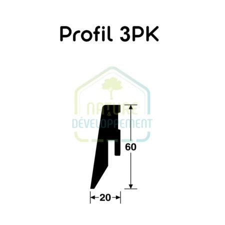 Plinthe placage bois Profile 3 PK MEISTER