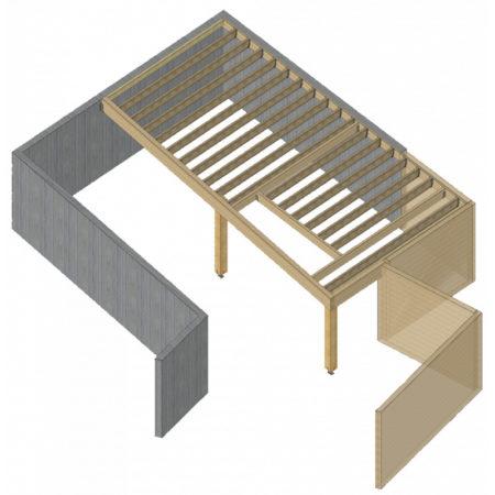 Kit plancher bois prêt à assembler