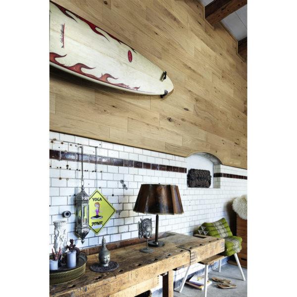 Lambris en bois véritable craft EP 500 huilé nature Raw Oak R34 ambiance