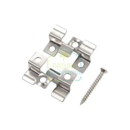 Clips Fixation Inox pour Terrasse Bambou