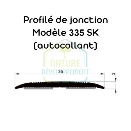 Barre de seuil autocollant, Profilé de jonction Modèle 335 SK MEISTER