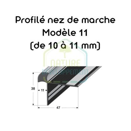 Barre de finition pour nez de marche Modèle 11 (de 10 à 11 mm) MEISTER