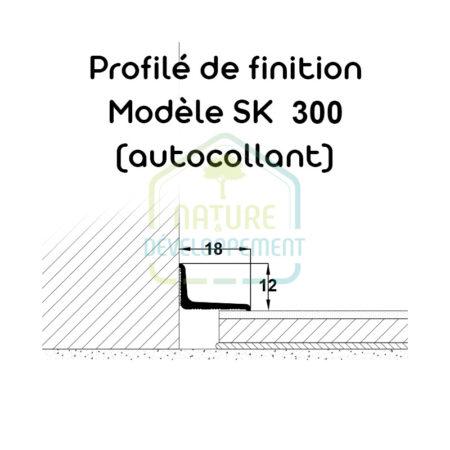 Barre finition pour baie vitrée autocollant, Profilé de finition Typ 300 SK MEISTER
