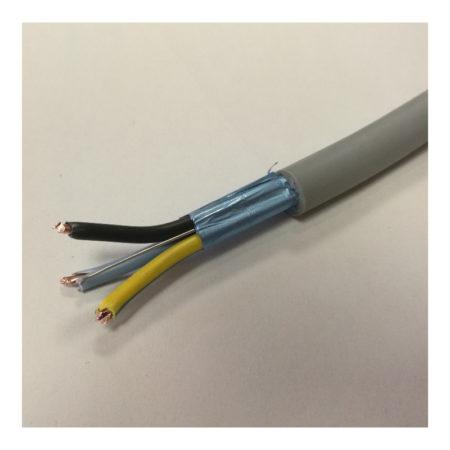 Câble blindé multibrin rigide gris