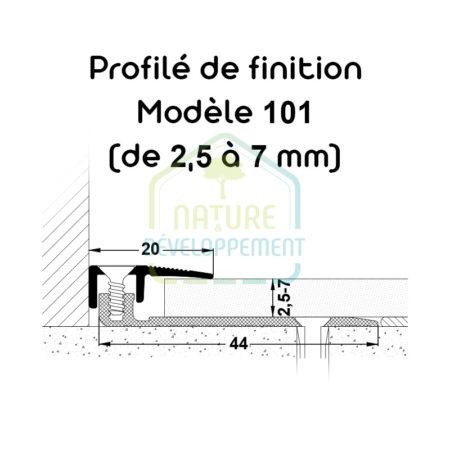 Barre finition pour baie vitrée, Profilé de finition Modèle 101 MEISTER