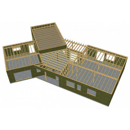 Kit structure toiture bois prêt à assembler